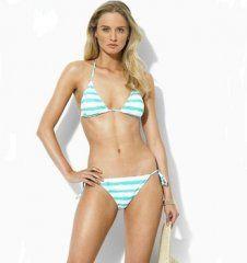 Ralph Lauren Women Strap Ricky Bikini Skyblue Bikini are so beautiful,  excellent! 01488a345c26