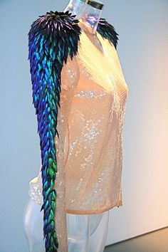 I want you, shiny, feathered sleeve! Holly Russell piece.