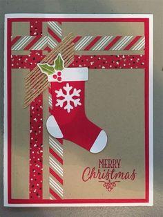 Stampin Up Christmas Cards 2017 - Christmas Lights Card . Simple Christmas Cards, Christmas Card Crafts, Homemade Christmas Cards, Christmas Greetings, Homemade Cards, Holiday Cards, Christmas Ideas, Scrapbook Christmas Cards, Chrismas Cards