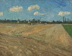 "Van Gogh, campi arati (""i solchi""), settembre 1888. Olio su tela, 72.5 x 92.5 cm. Van Gogh Museum, Amsterdam."