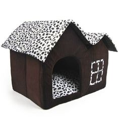 Luxury High-End Double Pet House Brown Dog Room 55 x 40 x 42 cm @ £19.8