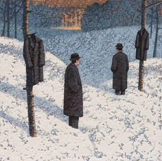 Catto Gallery | Mark Edwards Solo Exhibition 2016 | Two Men, Two Coats II