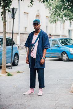 Street looks homme Fashion Week Paris printemps ete 2017 35