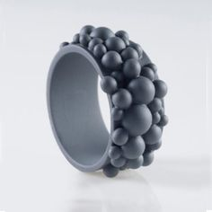 Geyser Bracelet Large Gray now featured on Fab. Silicone Bracelets, Diamond Are A Girls Best Friend, Handmade Bracelets, Tech Accessories, Jewlery, Make It Yourself, Resins, Silver, Jewelries