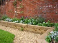 raised railway sleeper beds