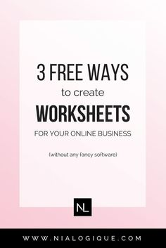 How To Create Worksheets For Your Online Business + Blog with Apple Pages, Google Docs, and Canva | Learn how to make a high-quality digital product to use as a content upgrade or as a supplement to an e-course or e-book. Also includes a free, downloadable workbook template if you aren't up for creating your own! Click through to learn more about how to create an opt-in, so you can grow your audience and your traffic.