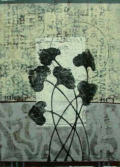 Infused with Grace, monotype by Anne Moore - this makes me want to use leaves from my house plants in my prints! Gravure Illustration, Gelli Plate Printing, Atelier D Art, Gelli Arts, Oil Painters, Art Abstrait, Mixed Media Art, Collage Art, Printmaking
