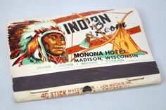 Indian Room Madison WI. 40 stem #frontstriker #matchbook. To order your business' own branded #matchbooks go to: www.GetMatches.com or call 800.605.7331 Today!