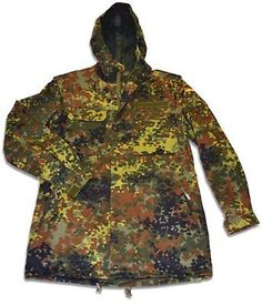 Other Hunting Clothing and Accs 159036: New German Flecktarn Camouflage Parka Medium Camouflage Hunting Apparel, New -> BUY IT NOW ONLY: $35.49 on eBay!