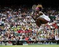 Serena Williams, elated...