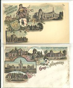 1896 Nuremberg; both mint never used