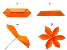 MONEY ORIGAMI: Origami Money Flowers, an easy 5 minute design