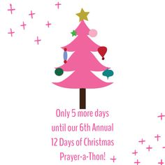 The #countdown continues! Only 5 days until our 2015 #Prayer-a-Thon!   We hope to see you Tuesday!  #Prayer #Praise #Ministry #Christian #Contests #Giveaways #Prizes #Friendship #Friends #Fellowship #Fun #Christmas #12Days #DGMPrayerAThon