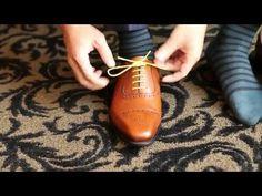 giày goodyear, giày goodyear welt, giay goodyear, giày đế da cao cấp cấu trúc goodyear welt: Cách cột dây giày tây không tuột