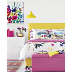 Brights Bedroom | #Brights | #PinkBedroom | Pink Bedroom « #YellowBedroom | Yellow Bedroom | Florals