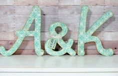 Wedding Letter Set with Ampersand, Wedding Decor - Initials - Custom - Personalized
