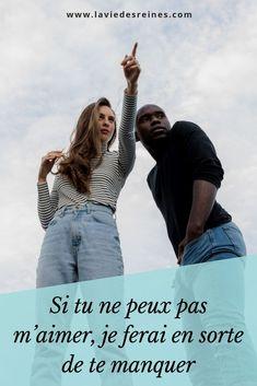 « Un jour, tu me chercheras chez tous ceux que tu rencontreras, mais tu ne me trouveras pas. » Je ne sais pas quand le jour viendra. Peut-être que je tiendrai la main de quelqu'un, si absorbée par l'attention d'un autre. Je ne remarquerai même pas quand nous allons nous croiser. Jusqu'à ce que tu prononces mon nom.  #laviedesreines #relation #motivation #photooftheday #france #couple #lifestyle Jaba, Some Words, Romans, Flirting, Affirmations, Attention, Motivation, Messages, Love