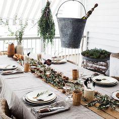 Une table de Noël à l'atmosphère kinfolk