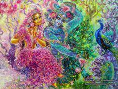 Radha Krishna Wallpaper  click here for more sizes http://harekrishnawallpapers.com/radha-krishna-artist-wallpaper-008/