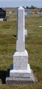 Michael Allmandinger, Zion Lutheran Cemetery, Chattanooga, Mercer County, Ohio. (2015 photo by Karen) #genealogy