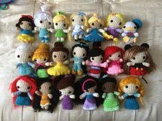 Amigurumi Oso Pijama : Disney princess crochet amigurumi dolls snow white cinderella