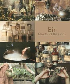 Eir was the name of a mysterious figure in Norse mythology. Some accounts told that Eir was a Valkyrie helping the wounded warriors survive the battle while others mentioned her as a goddess of healing in Asgard. Norse Goddess, Norse Pagan, Norse Mythology, Greek Mythology, Wiccan, Magick, Norse Vikings, Asatru, Gods And Goddesses