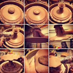 Throwing cake plates #pottery #ceramics