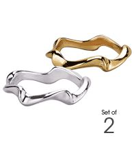 Out Of Line 2-Piece Ring Set--Intro Special $9.99!