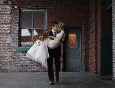 Wedding picture poses Portland Urban Wedding Inspiration - Inspired By This