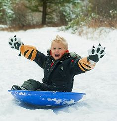 Tiger Paw Shaped Winter Mittens For Kids