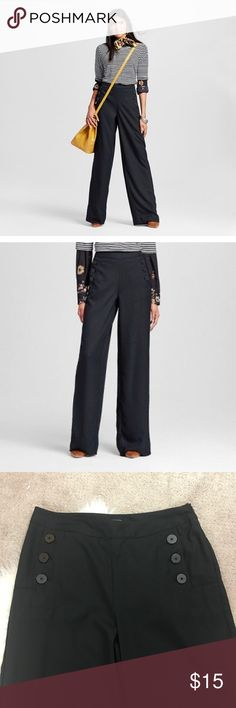 Who What Wear Sailor Pants Gorgeous pair of black Sailor dress pants by who what wear in a size 12! Brand new with tags! :) who what wear Pants