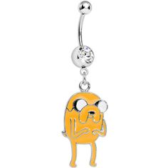 Licensed Adventure Time Jake the Dog Belly Ring | Body Candy Body Jewelry