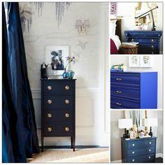 Blue Dressers. Love wallpaper