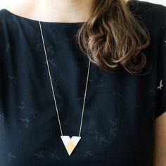 N a ï a  Simple geometric jewelry  Unglazed white by byloumi, €52.00