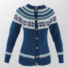 Fargevelger for strikking av Nancy - strikkefarger Knitting Machine Patterns, Fair Isle Knitting Patterns, Jumper Patterns, Knitting Stitches, Knitting Yarn, Icelandic Sweaters, Couture, Fashion Outfits, Womens Fashion