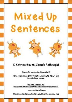 Teachers pet free classroom display resources for early years freebie mixed up sentences stopboris Choice Image