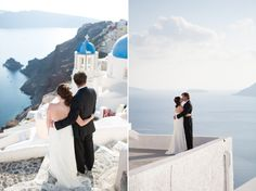 Gorgeous ocean views at this wedding in Santorini