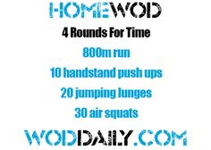 Monday 130819 - Home WOD by woddaily.com