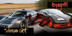 Bugatti Veyron vs Hennessy Venom ... which one is the better vehicle ? http://blog.automart.co.za/2014/09/04/bugatti-veyron-vs-hennessey-venom-gt/