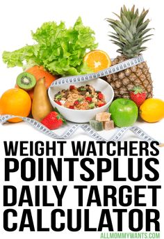 See how many points you are allotted on Weight Watchers with this Weight Watchers PointsPlus Daily Target Calculator! HOW TO DO WEIGHT WATCHERS FREE