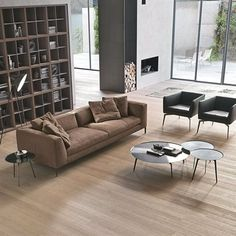 Stylish and Functional Floors 2014 Trends parqueting floors latest trends Wooden Bookcase, Bookcase Wall, Sofa Furniture, Living Room Furniture, Furniture Design, 2014 Trends, Latest Trends, Wood Interiors, Minimalist Home