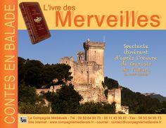 """La compagnie médiévale. Hervé Berteaux. Contes en balade. """"L'ivre des merveilles"""", spectacle itinérant"""