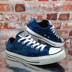 c1e35950862d Converse Womens All Star Velvet Trainers Blue Size 6 Velour SNEAKERS US 8  EU 39 for sale online