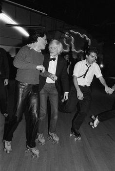 Andy Warhol at NYC's Roxy Roller Rink, March 3, 1980. Photo by Allen Tannenbaum