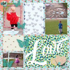 Project life layout using Spring Fever Collection
