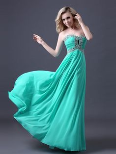 A-Line/Princess Sleeveless Chiffon Sweetheart Ruched Sweep/Brush Train Dresses