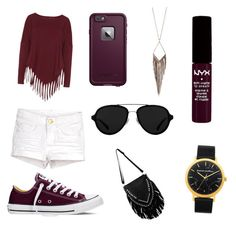 """""""Sin título #18"""" by ovallesrossy ❤ liked on Polyvore featuring Boris, Converse, LifeProof, 3.1 Phillip Lim, Jules Smith and NYX"""