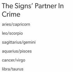 So true! My hubby is my partner in crime. We are always doing crazy things!  Leo/Scorpio