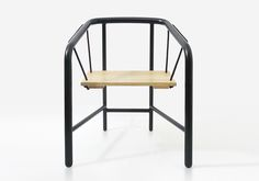 Inspired by the form and function of garden swings, the French-Polish Paris-based designer Florent Coirier has created this metal-and-wood chair called Custom Furniture, Contemporary Furniture, Furniture Design, Modern Contemporary, Inspiration Design, Swinging Chair, Chair Swing, Fireplace Accessories, Cool Chairs