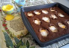Cadbury Creme Egg Brownies   How to be awesome on $20 a day